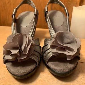 A2 by Aerosoles Metallic Open-Toe Sandal Heels